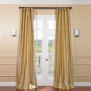 2 Pack Textured Dupioni Silk Curtain Panel